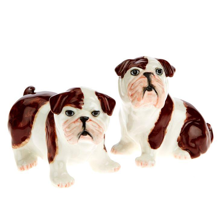 Englische Bulldoggen als Salz- und Pfefferstreuer, jetzt erhältlich auf www.romneys.de