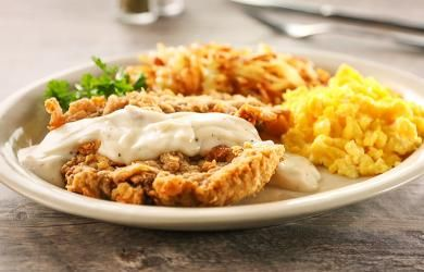 Chicken Fried Steak Breakfast - jims diner
