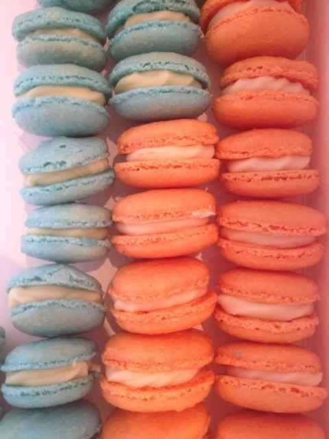 Giggle and Hoot - Orange and Blue Macarons pinned with Pinvolve - pinvolve.co