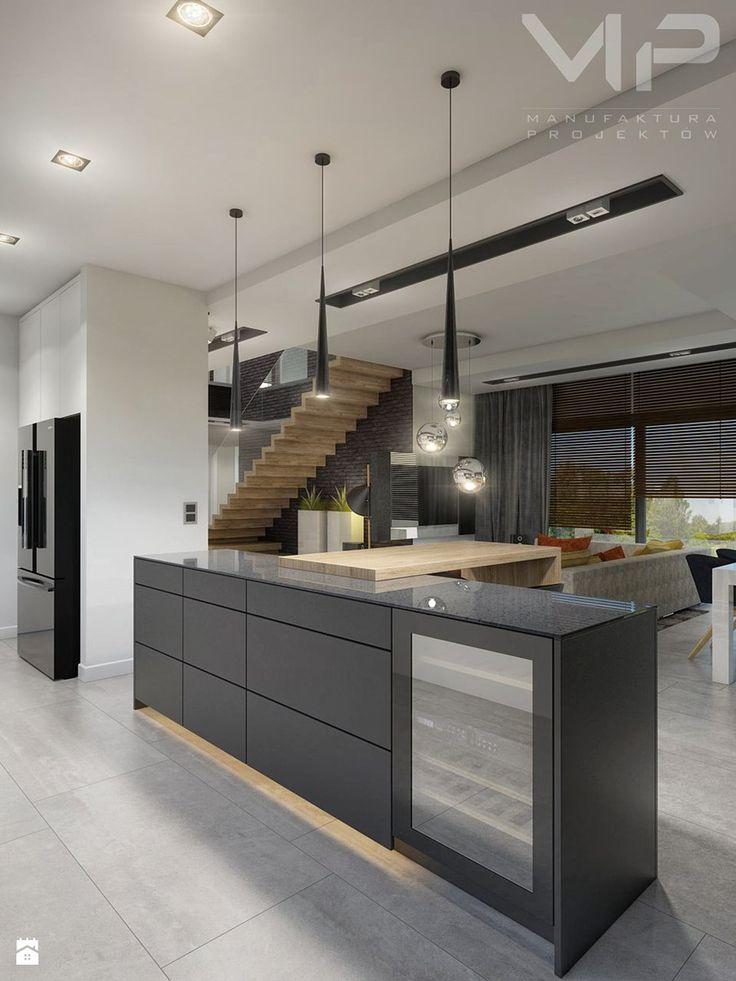 INTERIOR | Dom w Rudach - Duża kuchnia, styl nowoczesny - zdjęcie od Manufaktura Projektów
