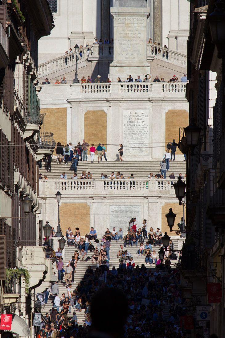 ITALIA - Piazza di Spagna (da via Condotti) by...