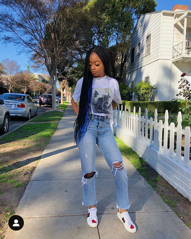 Skai Jackson Via Instagram Post In A Really Cute But Casual Outfit Black Girl Outfits Fashion Teenage Girls Black Girl Fashion