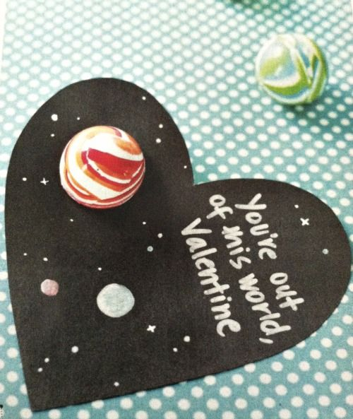 """""""Out of this world"""" valentines - perfect for schools that don't let you give candy valentines!"""