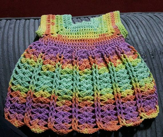 Check out this item in my Etsy shop https://www.etsy.com/uk/listing/463214070/pretty-crochet-handmade-baby-dress-3-6