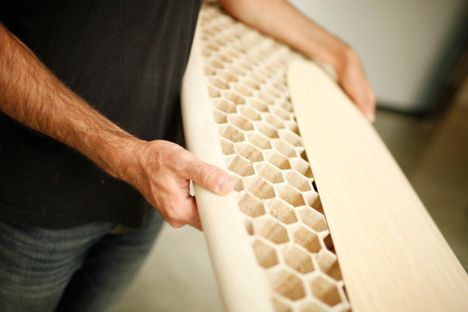 CNC milled Honeycomb-filled Surfboard!