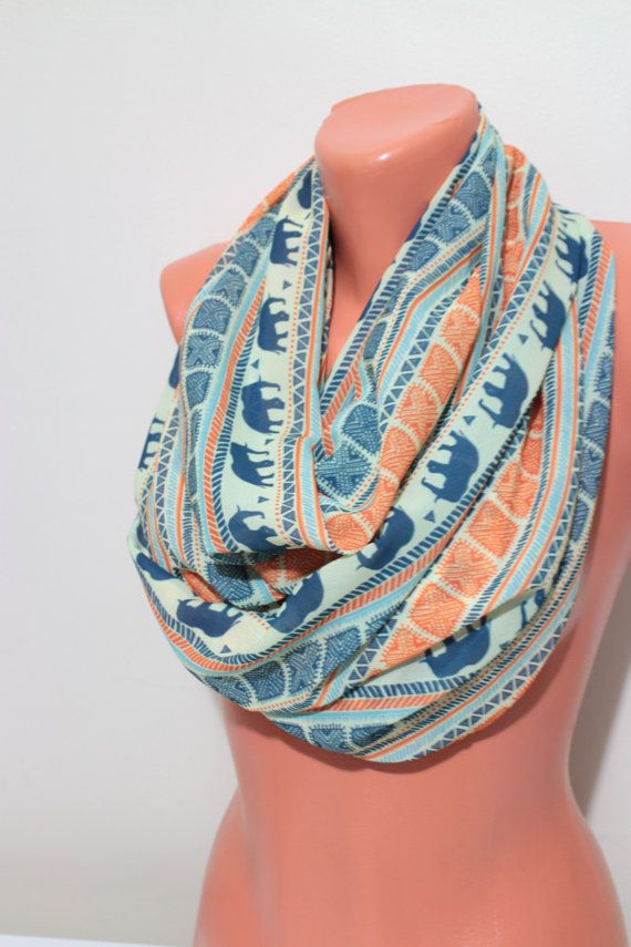 15% OFF Elephant Infinity Scarf Green yellow Multi by ionnass