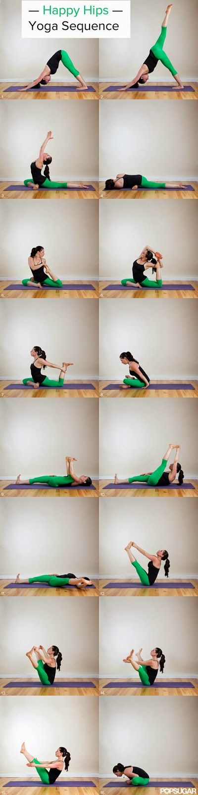 Happy Hips Yoga Sequence. Keep your hips strong! Perfect way to prevent injury. #Yoga #Hips #Strength