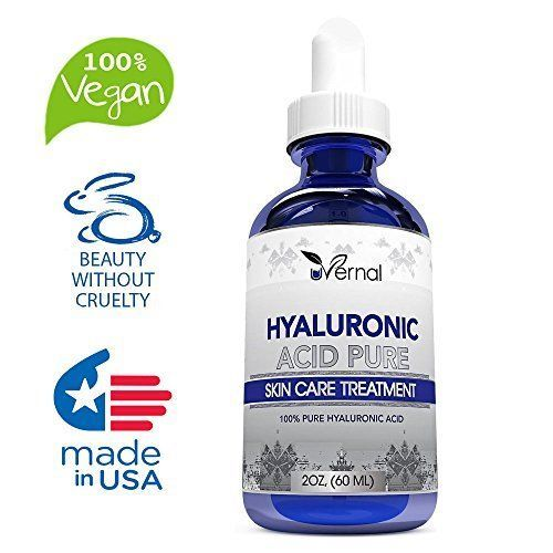 100% Pure Hyaluronic Acid For Skin Anti Aging Serum Anti Wrinkle Natural Young #USA
