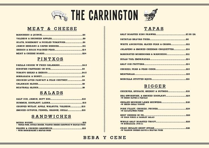 The Carrington in Surry Hills is looking deeeelicious!