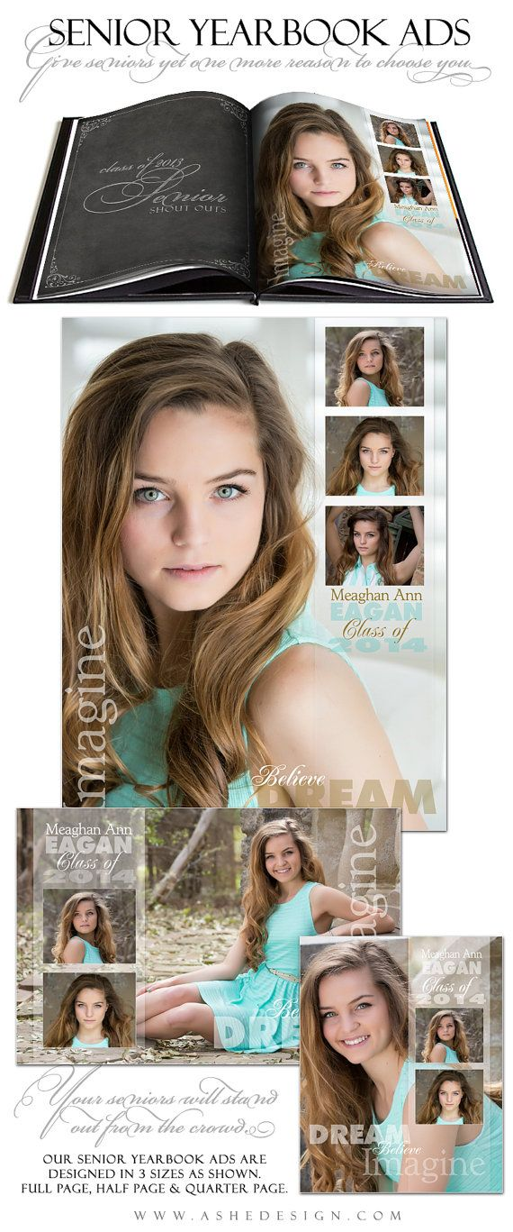 Senior Yearbook Ad Sets for Photographers  SCULPTING by ashedesign, $14.99