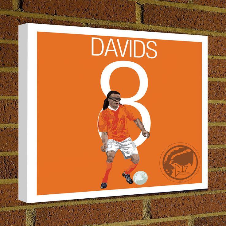 Square Canvas Wrap Soccer Art Print Edgar Davids Netherlands Soccer Poster wall decor home decor, Davids print, Dutch poster by Graphics17 on Etsy