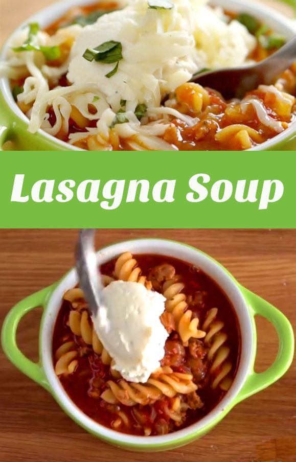 Lasagna Soup Recipe   This easy to make soup boasts all the goodness of lasagna without the heavy lifting. Check out the quick video to see how quickly it all comes together! #familydinner