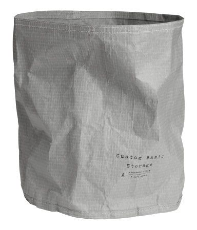 Paper storage basket | Grey | Home | H&M MY