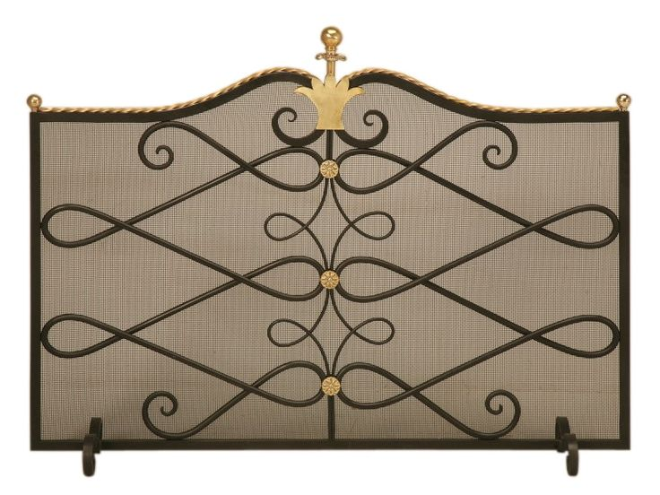 Buy Custom Steel and Brass Fireplace Screen and Mesh by Old Plank - Made-to-Order designer Accessories from Dering Hall's collection of Transitional Fireplace Mantels & Accessories.