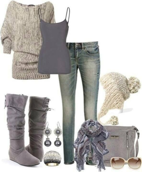 Sweater, scarf, and hat please!
