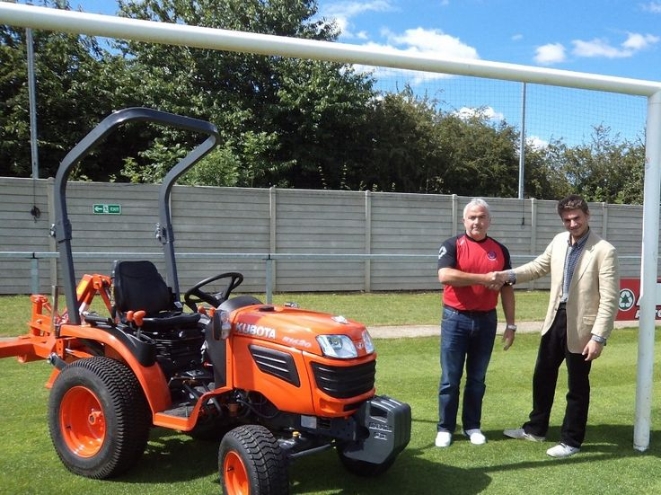Most recently Kubota has sponsored Thame Football Club with the loan of a B20 Series compact tractor and a donation of £2,000 for the Kubota...