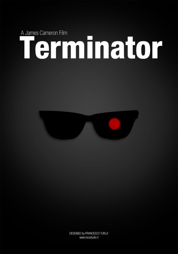 Terminator | Minimal movie poster | Francesco Turlà