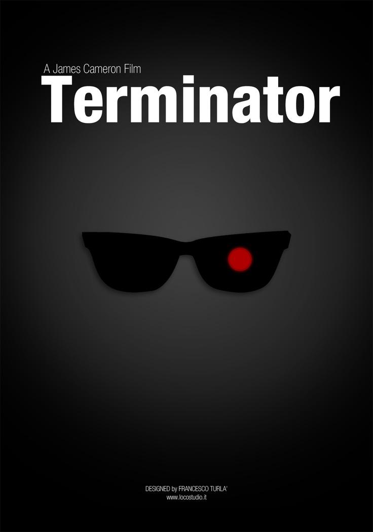 Terminator   Minimal movie poster   Francesco Turlà