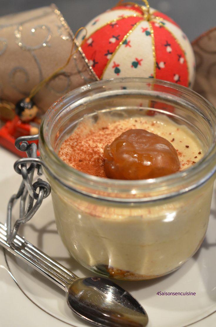 Mousse légère à la crème de marron comme un tiramisu