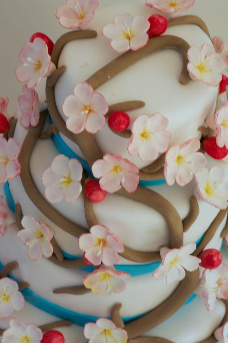 13 jan: Voor mijn verjaardag wilde ik een mooie cherrie blossom taart maken. prijs: 60 euro. 35 personen.