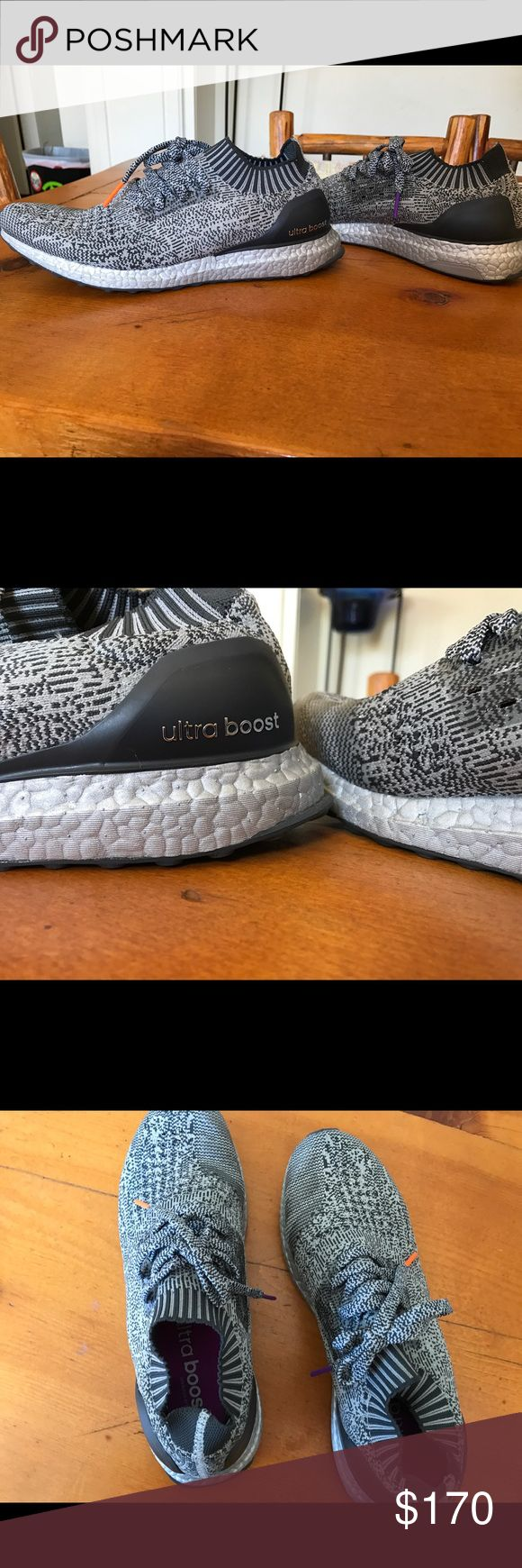 Adidas Silver Uncaged Ultra Boost Size 10. Worn three times, look brand new. Silver boost, 100% Authentic. Comes with box! Taking offers Adidas Shoes Sneakers