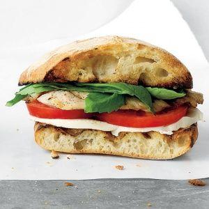 "turkey caprese sandwich and other yummy ""picnic"" sandwiches"