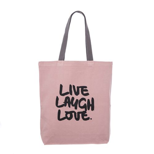 LIVE LAUGH LOVE #canvas #tote #bag #klassdsign http://klassdsign.com/shop/canvas-bags/live-laugh-love-pastel-pink/ #quote