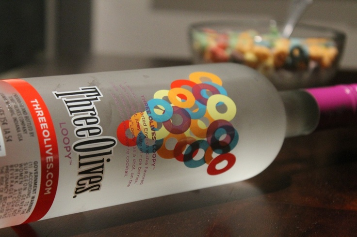 Loopy shots, taste just like fruity pebbles Loopy vodka, red bull, cranberry juice, & sour mix