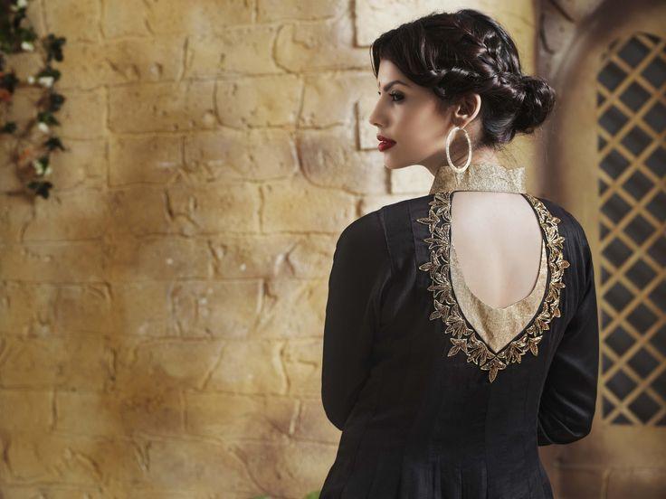 Art Silk Anarkali With Zari Embroidery and Stone Embellishment
