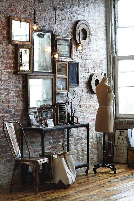 howne blog tendance deco miroir vintage accumulation deco murale miroir retro rotain barbier metal ancien inspiration decoration 3