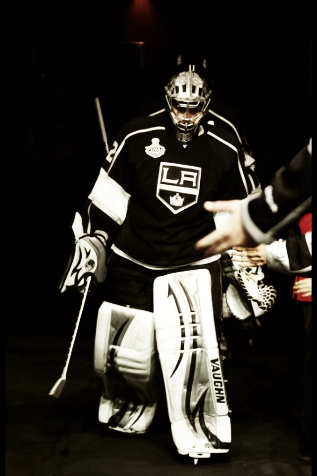 Jonathan Quick, US born goaltender for the Los Angeles Kings