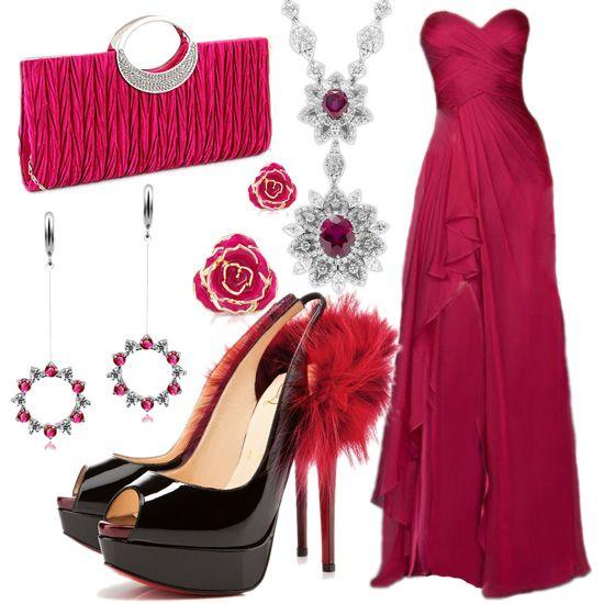 A-line Sweetheart Chiffon Ruffles Prom Dresses/Evening Dresses #BK510