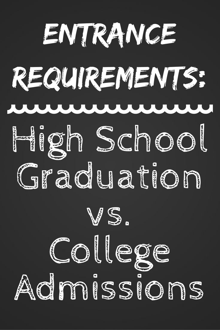Do you know what your HS requirements are to graduate? Have you ever thought to compare them to your prospective college's admission requirements?