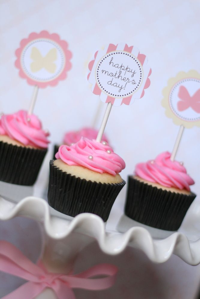 Happy Mother's Day Cupcake and Printable