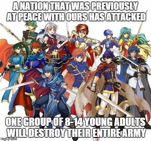 Every Fire Emblem game ever.