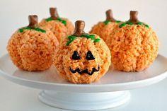 calabazas arroz inflado Halloween