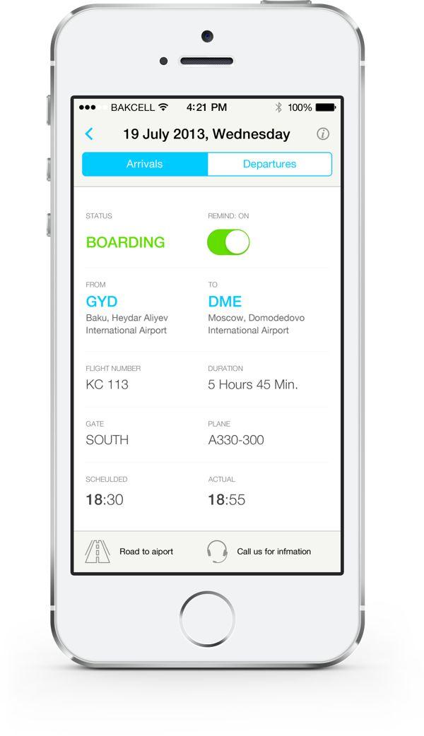Baku Airport App by Ruslan Sharifov, via Behance