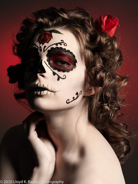121 Best Images About Half Face Sugar Skull Makeup On Pinterest | Halloween Sugar Skull ...