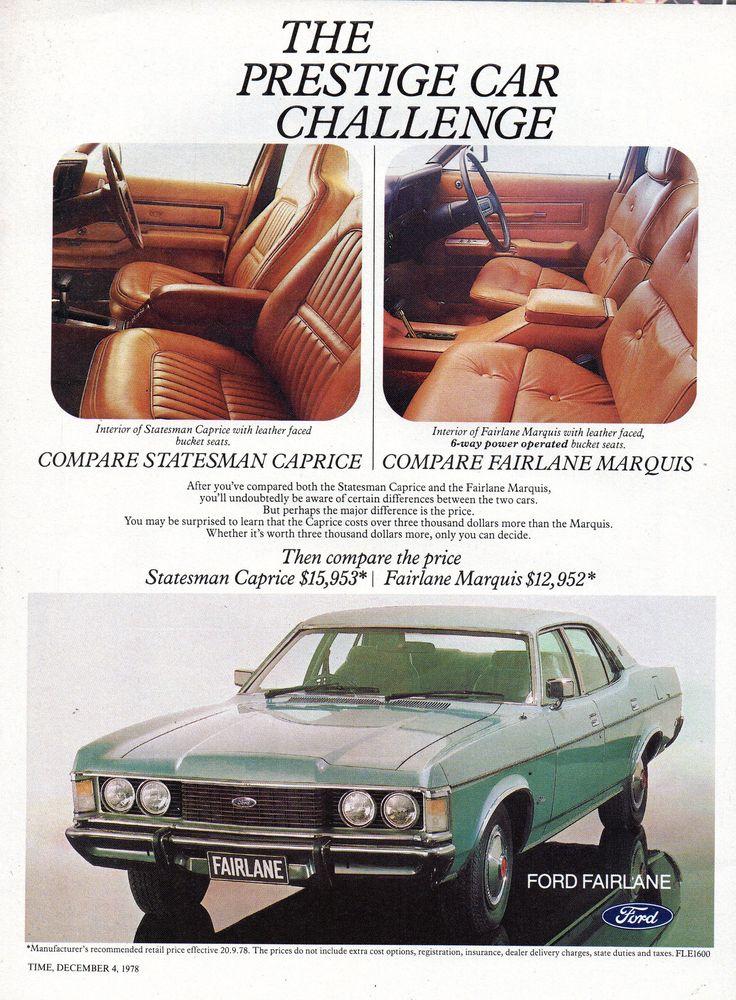 https://flic.kr/p/N8pKuc | 1978 ZH Fairlane Marquis By Ford Aussie Original Magazine Advertisement
