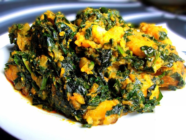 Nigerian Food Recipes: Yam & Spinach Recipes For Simple Breakfast OR Dinner
