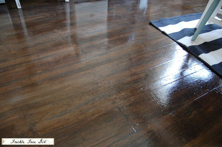 Faux wood plank floors using brown paper brown paper for Simulated wood flooring