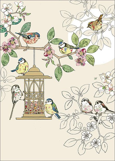 BugArt Collage ~ Bird Feeder. Collage *NEW* Designed by Jane Crowther.