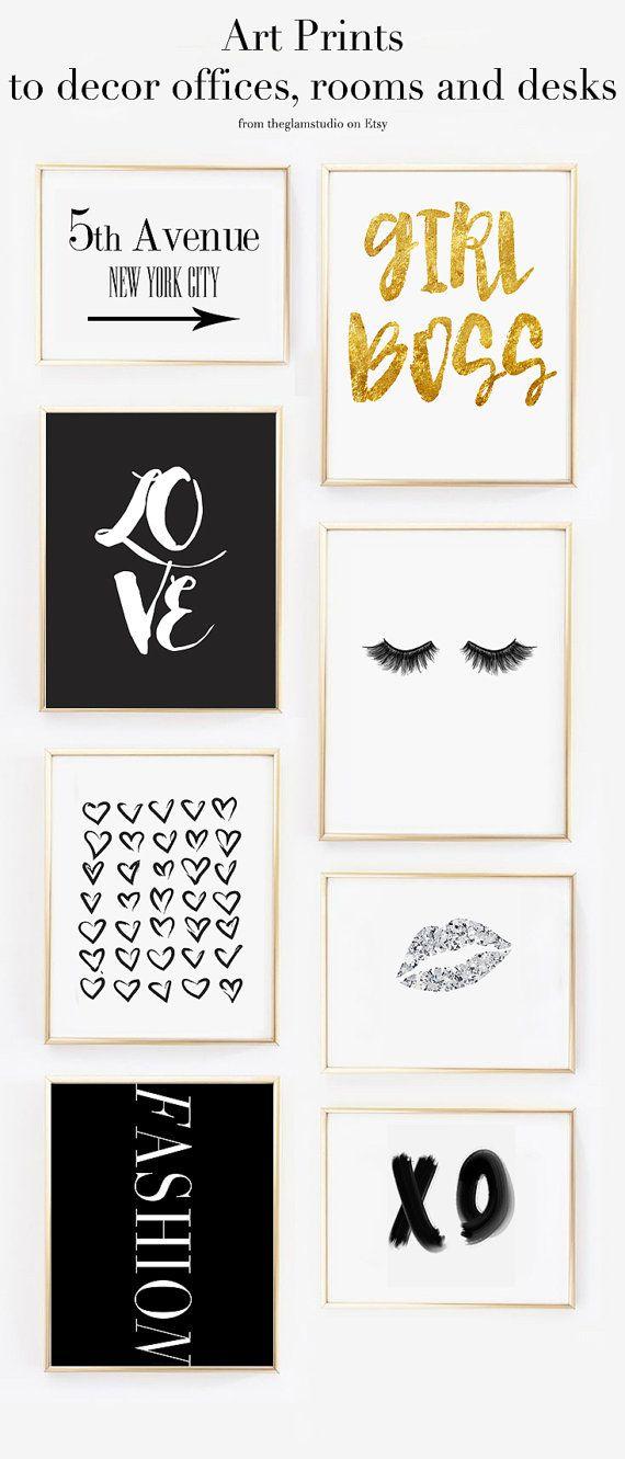 Love printable art Digital Download home decor by TheGlamStudio