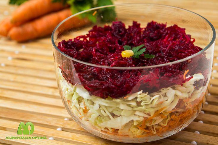Salată de toamnă-iarnă cu morcov, varză și sfeclă roșie » Alimentația Optimă