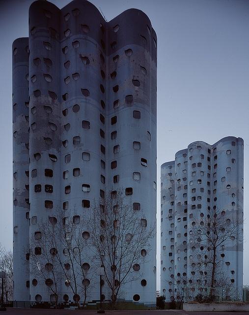 Les Tours Aillaud (tours nuages) - Cité Pablo Picasso, Nanterre (92), 2012. by Martin Argyroglo, via Flickr