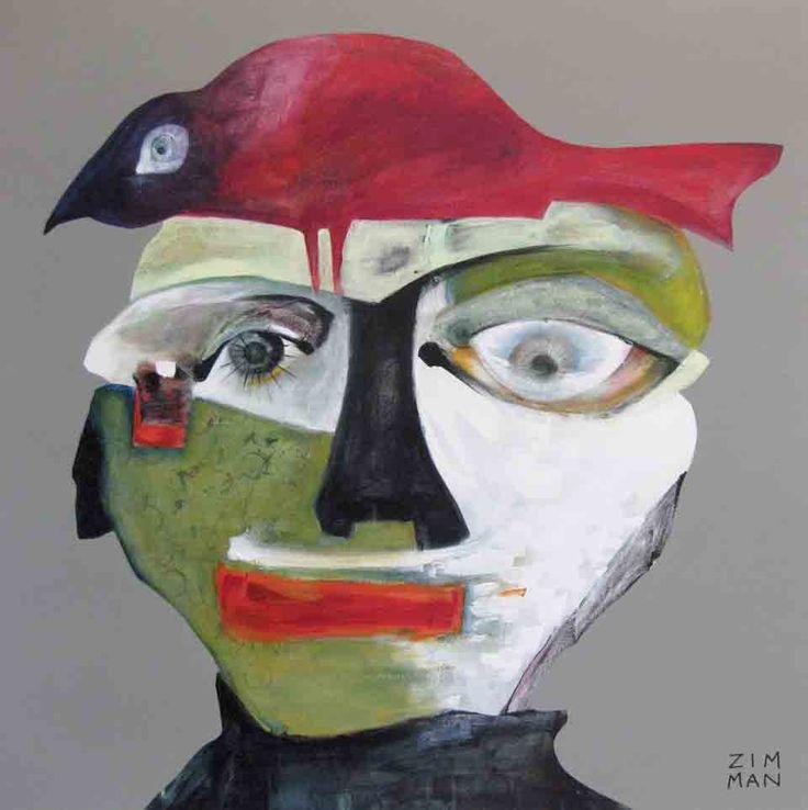 Demi McLeod 'ZIM MAN' 102 x 102 cm