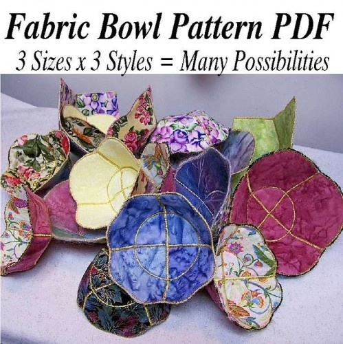 Fabric bowls - love these! I am going to try this with