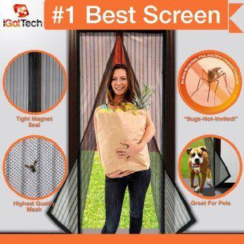 """Magnetic Screen Door, Full Frame Velcro. Fits Door Openings up to 34""""x82"""" MAX, 2016 Amazon Top Rated Hardware  #Home-Garden"""