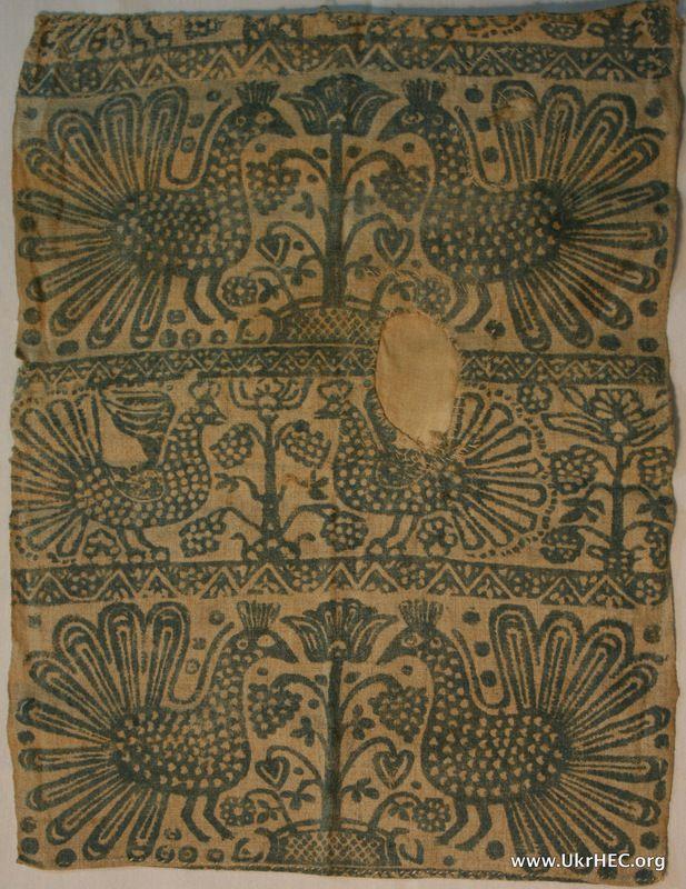 "Woodblock-printed cloth (""vybiika"") from the Poltava region of Ukraine. Likely 18th century."