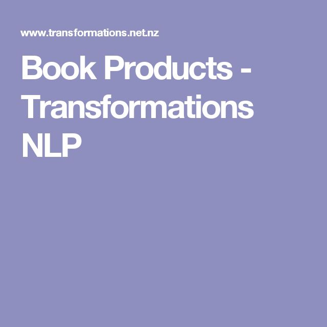 Transformations NLP / Books by Richard Bolstad/  Bolstad Weaves Academic Research through his Writings to Inform NLP Concepts